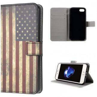 Plånboksfodral iPhone SE (2020) - Flagga USA