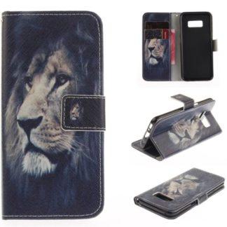 Plånboksfodral Samsung Galaxy S8 – Lejon