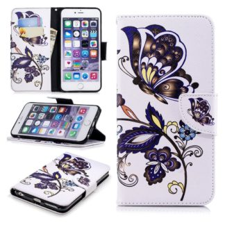 Plånboksfodral Apple iPhone 6 – Elegant Fjäril