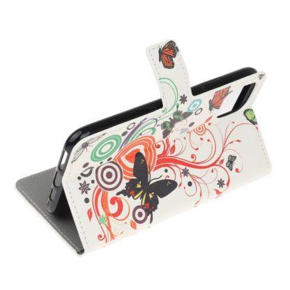 Plånboksfodral Apple iPhone 12 - Vit med Fjärilar