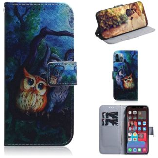 Plånboksfodral iPhone 12 Pro Max – Ugglor I Månsken