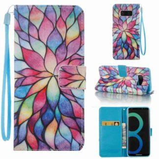 Plånboksfodral Samsung Galaxy S8 – Färgglada Blomblad