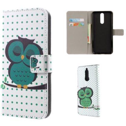 Plånboksfodral Huawei Mate 10 Lite – Prickigt med Uggla
