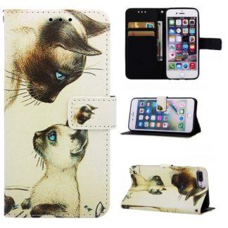 Plånboksfodral Apple iPhone 8 Plus – Katter