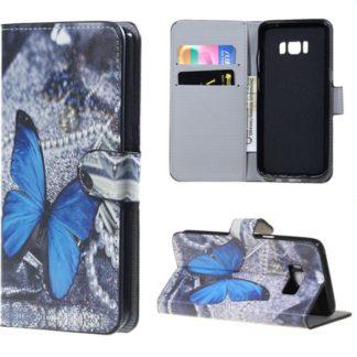 Plånboksfodral Samsung Galaxy S8 – Blå Fjäril