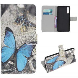 Plånboksfodral Samsung Galaxy A70 - Blå Fjäril