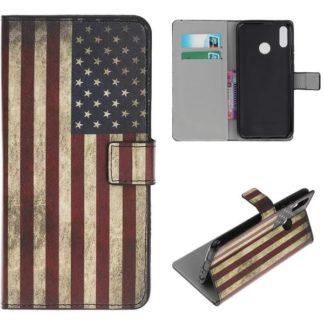Plånboksfodral Huawei Y6 2019 - Flagga USA