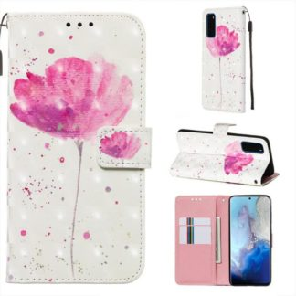 Plånboksfodral Samsung Galaxy S20 – Rosa Blomma