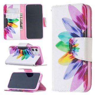 Plånboksfodral Apple iPhone 12 – Färgglad Blomma