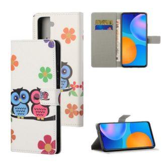 Plånboksfodral Samsung Galaxy S21 - Ugglor & Blommor