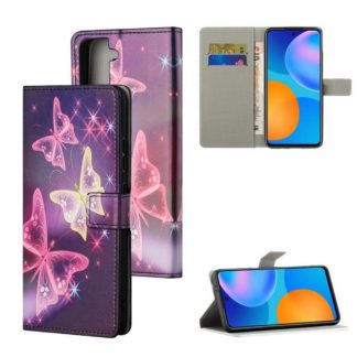 Plånboksfodral Samsung Galaxy S21 - Lila / Fjärilar