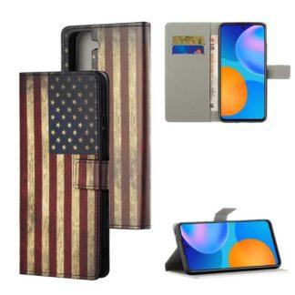 Plånboksfodral Samsung Galaxy S21 - Flagga USA