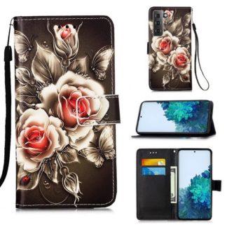 Plånboksfodral Samsung Galaxy S21 – Rosor