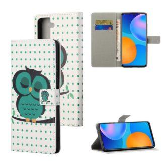 Plånboksfodral Samsung Galaxy S21 - Prickigt med Uggla