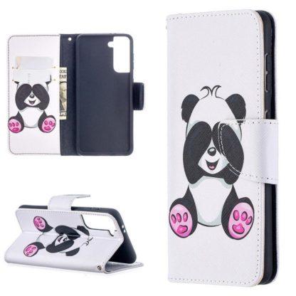 Plånboksfodral Samsung Galaxy S21 - Panda
