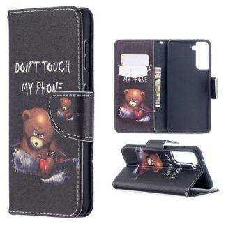 Plånboksfodral Samsung Galaxy S21 - Don't Touch My Phone
