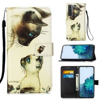 Plånboksfodral Samsung Galaxy S21 – Katter