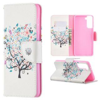 Plånboksfodral Samsung Galaxy S21 – Färgglatt Träd
