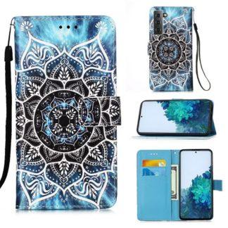 Plånboksfodral Samsung Galaxy S21 Plus – Blå Mandala