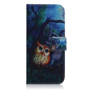 Plånboksfodral Samsung Galaxy S21 Plus – Ugglor I Månsken