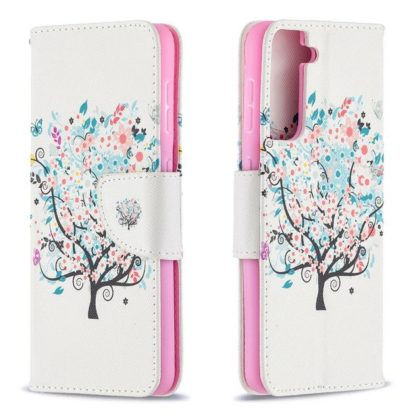 Plånboksfodral Samsung Galaxy S21 Plus – Färgglatt Träd
