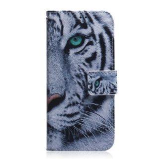 Plånboksfodral Samsung Galaxy S21 Plus – Vit Tiger