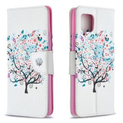 Plånboksfodral Samsung Galaxy A12 - Färgglatt Träd