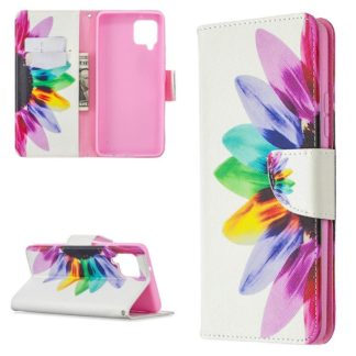 Plånboksfodral Samsung Galaxy A12 - Färgglad Blomma