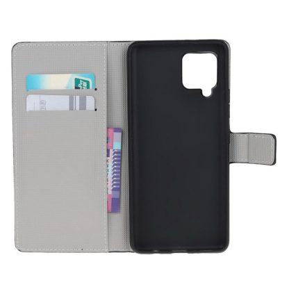 Plånboksfodral Samsung Galaxy A12 - Prickigt med Uggla