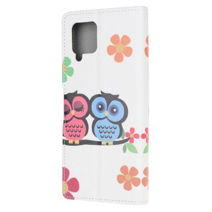 Plånboksfodral Samsung Galaxy A12 - Ugglor & Blommor