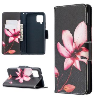Plånboksfodral Samsung Galaxy A12 - Rosa Blomma