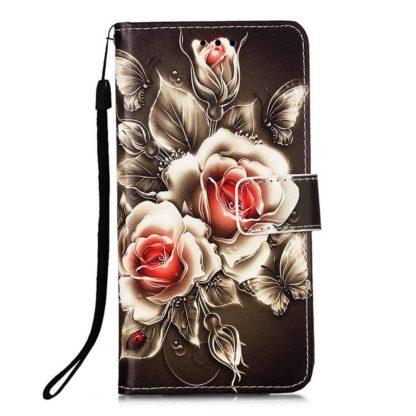 Plånboksfodral Samsung Galaxy A12 - Rosor