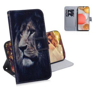 Plånboksfodral Samsung Galaxy A12 - Lejon