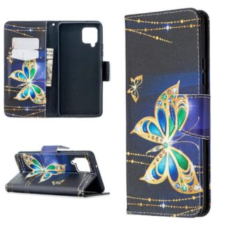 Plånboksfodral Samsung Galaxy A12 - Guldfjäril