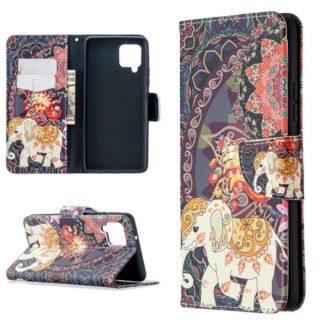 Plånboksfodral Samsung Galaxy A12 - Indiskt / Elefant