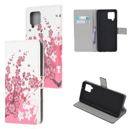 Plånboksfodral Samsung Galaxy A42 - Körsbärsblommor