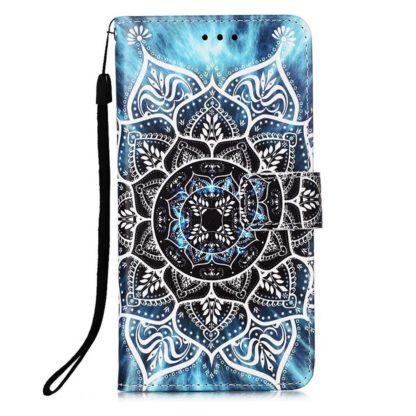 Plånboksfodral Samsung Galaxy A42 - Blå Mandala