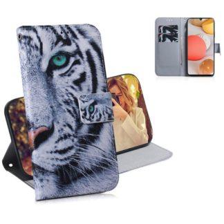 Plånboksfodral Samsung Galaxy A12 - Vit Tiger