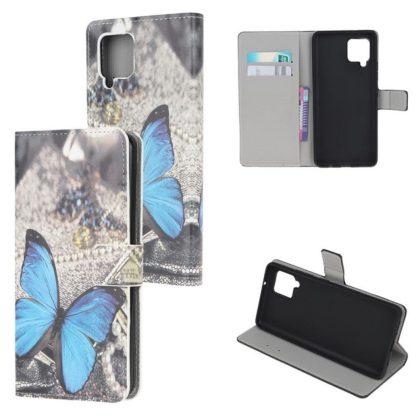 Plånboksfodral Samsung Galaxy A42 - Blå Fjäril