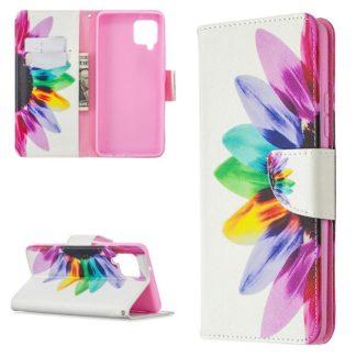 Plånboksfodral Samsung Galaxy A42 - Färgglad Blomma