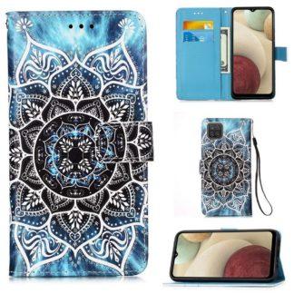 Plånboksfodral Samsung Galaxy A12 - Blå Mandala