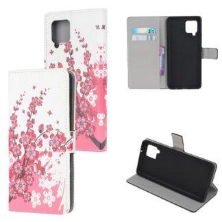 Plånboksfodral Samsung Galaxy A12 - Körsbärsblommor