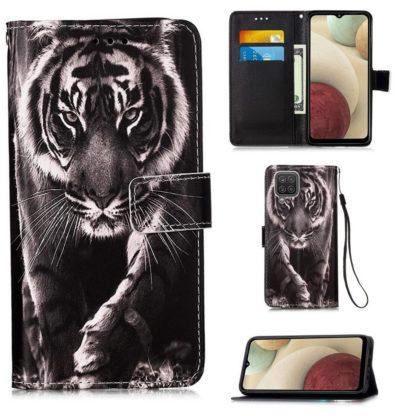 Plånboksfodral Samsung Galaxy A12 - Tiger