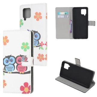 Plånboksfodral Samsung Galaxy A42 - Ugglor & Blommor