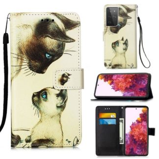 Plånboksfodral Samsung Galaxy S21 Ultra – Katter