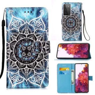 Plånboksfodral Samsung Galaxy S21 Ultra – Blå Mandala