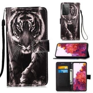 Plånboksfodral Samsung Galaxy S21 Ultra – Tiger