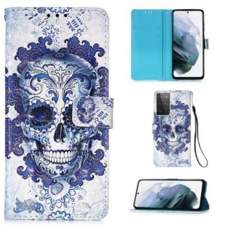 Plånboksfodral Samsung Galaxy S21 Ultra – Döskalle