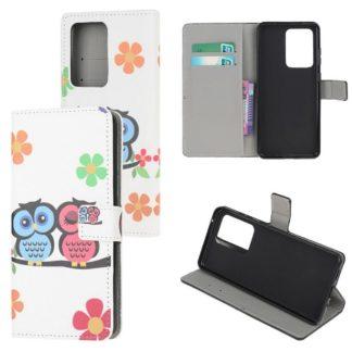 Plånboksfodral Samsung Galaxy S21 Ultra - Ugglor & Blommor