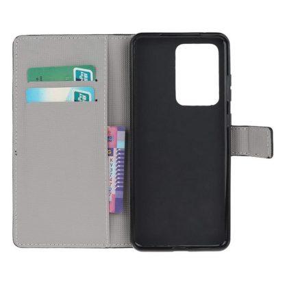 Plånboksfodral Samsung Galaxy S21 Ultra - Prickigt med Uggla